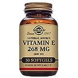 Solgar - Vitamin E 400 IU (d-Alpha Tocopherol & Mixed Tocopherols) 50 Mixed Softgels