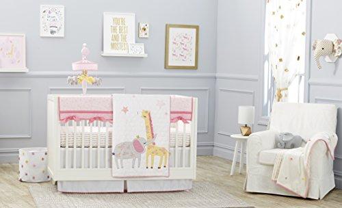 Just Born Jungle 3-Piece Crib Bedding Set, Pink (Pink Jungle)