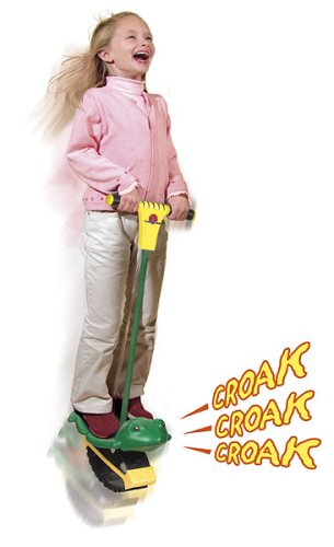 Geospace Jumparoo Frog Pogo Stick by Air Kicks; For Kids 26 to 62 Lbs. by Geospace