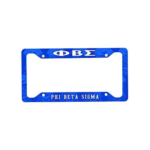 Beta Phi Sigma Plate License (Express Design Group Phi Beta Sigma Custom License Plate Frame)