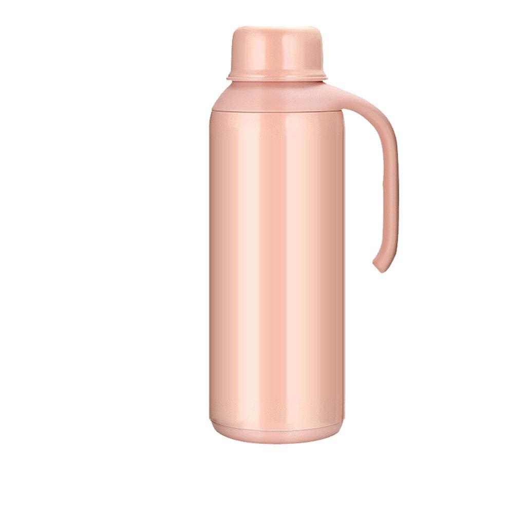WLHW Trinkflaschen Hauptdämpfungs-Becher-Flaschentopf, Auto-große Kapazitäts-Portable Reise-Edelstahl 2.1L im Freien