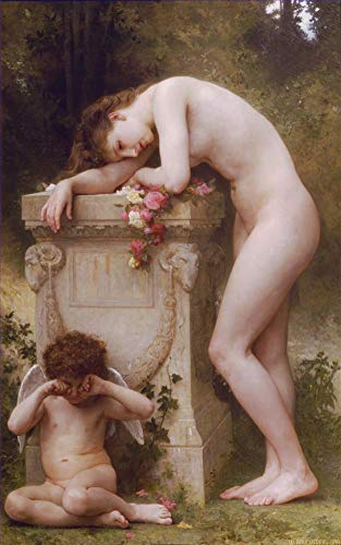 ($50-$2000 Handmade Oil Painting by College Teachers - Douleur Damour William Adolphe Bouguereau Nude Classic NCC2 Canvas Art for Home Wall Decoration -Size 06)