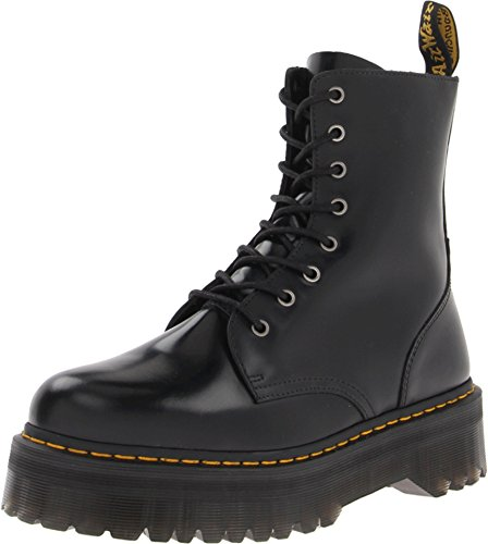 Black Platform Boots Cheap (Dr. Martens Women's Jadon Boot,Black Polished Smooth,4 UK/6 M)