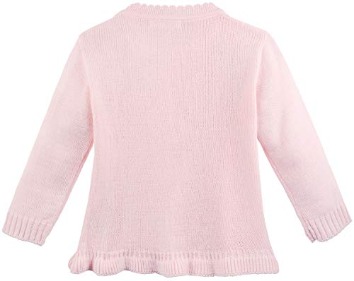 0fb0f803ae Lilax Little Girls Sweater Long Sleeve Ruffle Knit Pullover 2T Pink ...