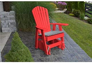 product image for Poly 2 Ft Single Adirondack Glider Chair - Red