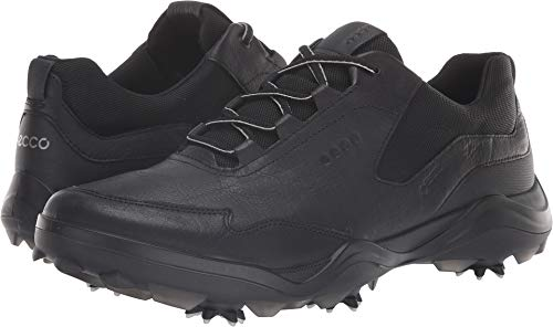 (ECCO Men's Strike Gore-TEX Golf Shoe, Black Yak Leather, 10 M US)