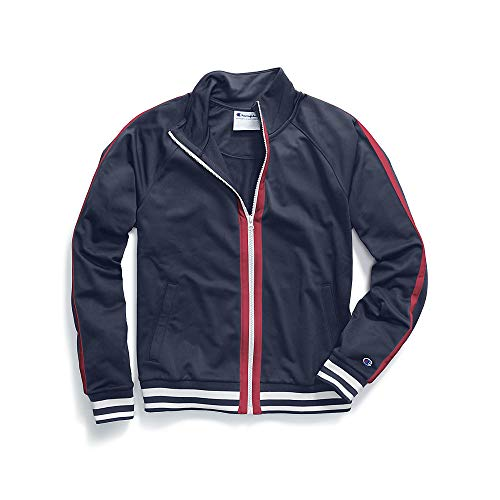 Champion Women's Track Jacket, Imperial Indigo/Sideline Red, XL