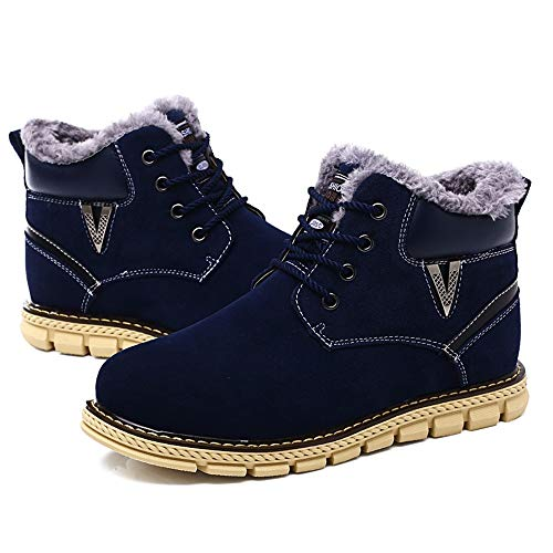 Hombres Jiuyue 2018 Invierno La Con Cordones Dentro Ocasionales Los Caseros Simples shoes Botas Moda Para Zapatos Imitación Azul De Hombre Nieve vwxv1ASr