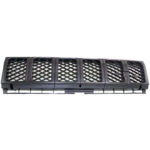 Make Auto Parts Manufacturing - FRONT GRILLE; BLACK; WITHOUT BEZELS; 4WD - (Black Carbon Steel Bezel)