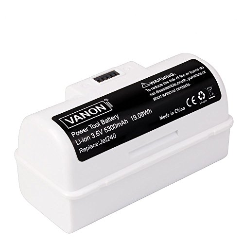 VANON 3.6V 5300mAh High Capacity Li-ion Replacement Battery for iRobot Braava Jet 240 Floor Mopping Robots (White) (1-Pack) -