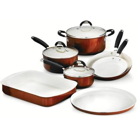 Tramontina Style 10-Piece Cookware/Bakeware Set, Metallic Copper by Unknown