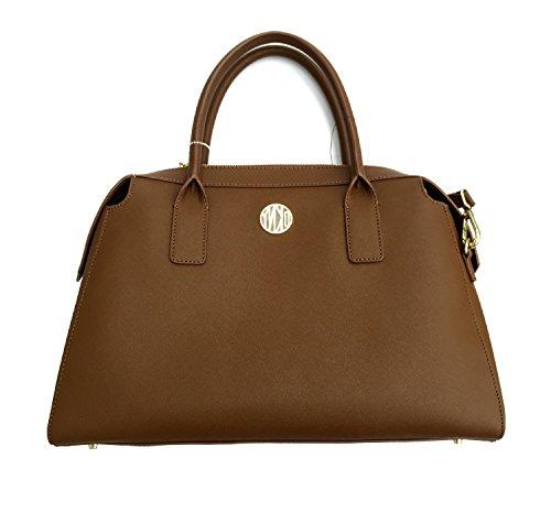 DKNY Bryant Park Saffiano Leather Satchel Bag, Brown