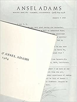 ansel adams tls typed letter signed with laid in photograph irving robbins william garnett