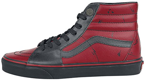 Black Skate Shoe Unisex On Slip Checkerboard Vans Deadpool Classic 8qTZU
