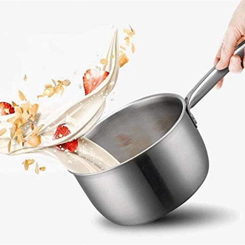 DYXYH en Acier Inoxydable à revêtement antiadhésif Pan Frying Pan Pan Lait Soucoupe en Acier Inoxydable avec Couvercle à Induction Compatible Lave-Vaisselle, Coffre-Fort