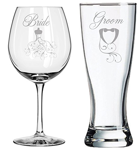 Unique Wedding Gift - Bride Groom Swirl - Couples Gifts - Wedding Toasting Glasses - Personalized Wedding Set - Wedding Shower - Engagement Gift - Bridal Shower (Engagement Gifts Wine compare prices)
