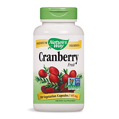 Nature's Way Cranberry Fruit, 180 Vcaps (Cranberry Natural Factors)