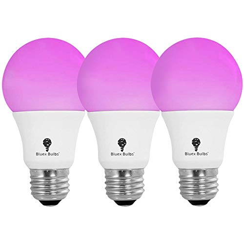 3 Pack BlueX 100W LED Grow Light Bulb A19 Bulb - Full Spectrum Grow Lamp - Grow Healthier & Yield Better Harvests for DIY Indoor Plants, Flowers, Greenhouse, Indore Garden, Hydroponic