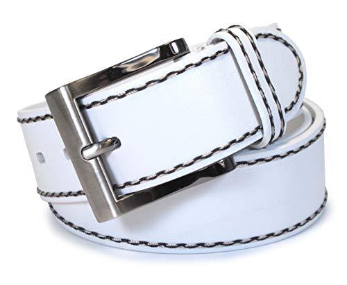 (TM4-113) Mens Belt 100% Real Leather Black, Brown, White Size 28~42