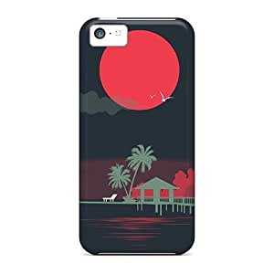 LJF phone case New Mialisabblake Super Strong Moon Scene Tpu Case Cover For Iphone 5c
