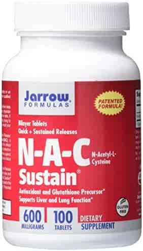 Jarrow Formulas N-A-C Sustain, Supports Liver and Lung Function, 600 mg, 100 Sustain tabs