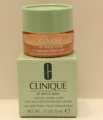 New in Box! Clinique All About Eyes Reduces Puffs Circle 5ml / .17 Oz