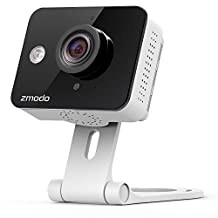 Zmodo ZM-SH75D001-WA Mini WiFi Camera Surveillance Camera, Black