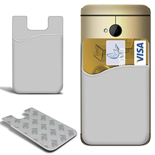 N4U Online - Apple Iphone 6 Plus Slim bâton silicone / carte Débit Crédit Housse de fente de la peau - Blanc