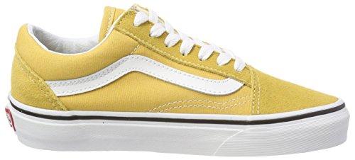 Sneaker Qa0 – ochre Vans Old true Giallo Unisex White Skool Adulto EgxUnwqf6