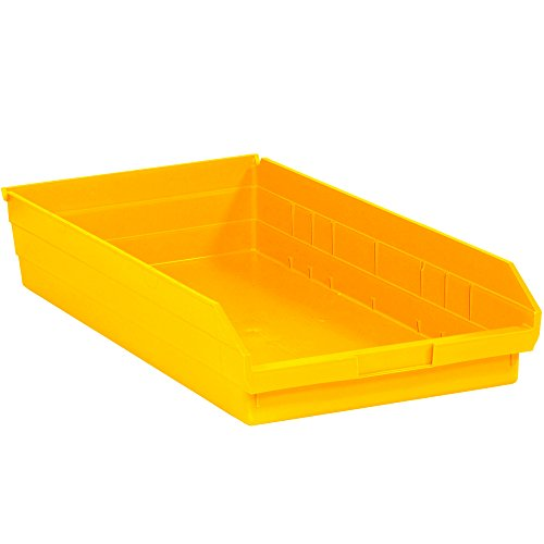 Plastic Shelf Bin Boxes 4 Height x 23.63 Length x 11.13 Width