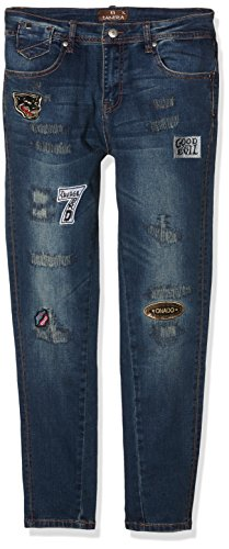 TANTRA Jeans with Sticker and BackZippers, Vaqueros para Mujer Denim