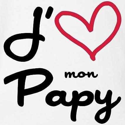 Spreadshirt Jaime Mon Papy Body B/éb/é Bio Manches Courtes