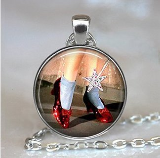 Ruby Slippers pendant, Oz jewelry, Oz necklace, Wizard of Oz jewelry, Ruby Slippers necklace, Wizard of Oz pendant
