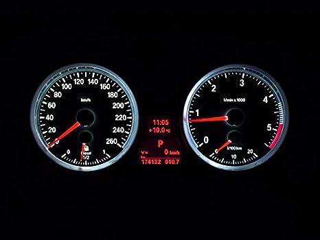 M3 Optik Tacho Umbau Komplettset f/ür E90 E91 E92 E93 X1 E84 M-LOOK