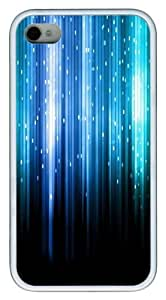 Blue Abstract Vectical Lines pc White Case for iphone 4S/4