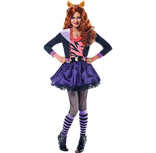 Amscan Monster High Clawdeen Wolf Halloween Costume Deluxe for Girls, Medium, with Included Accessories