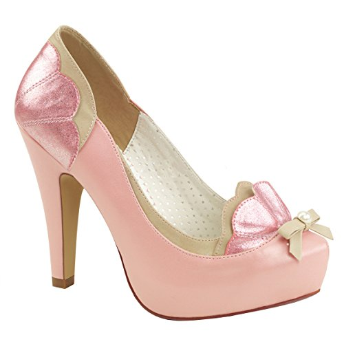 PinUp Couture Damen Plateau-Pumps Schleife Bettie-20 babypink Babypink-tan