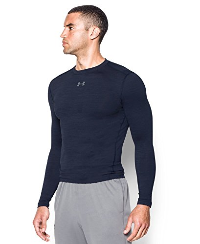 Under Armour Men's ColdGear Armour Twist Compression Crew, Midnight Navy/Steel, Small by Under Armour (Image #2)