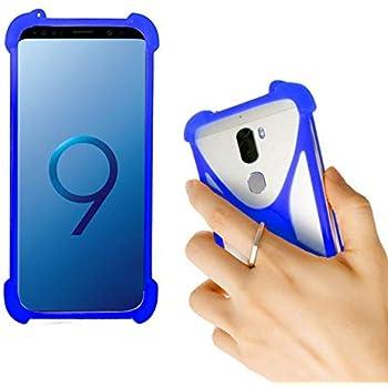 Lankashi Blue Stand Ring Holder Soft Silicone Protective Case Cover for NUU G3 X5 A4L M3 SWEES 3G Nextbit Robin CTC Soshphone PendoPhone Meiigoo S8 Fairphone 2 Padgene S9 Atongm G501 Cagabi One IUNI