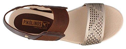 Pikolinos Mykonos W1G-0759-Sandalias de cuero para mujer Brown
