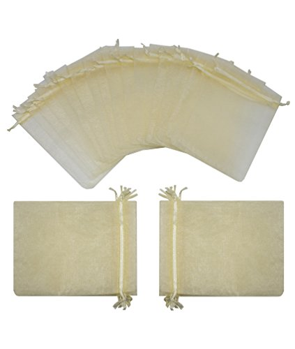 Expert choice for champagne organza bags 3×4