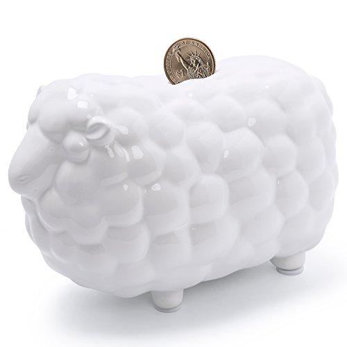 FORLONG FL2010 Sheep Piggy Bank Ceramic Coin Bank