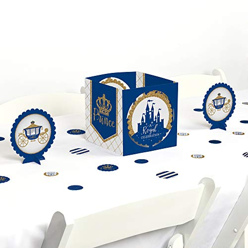 Big Dot of Happiness Royal Prince Charming - Baby Shower or Birthday Party Centerpiece & Table Decoration Kit ()