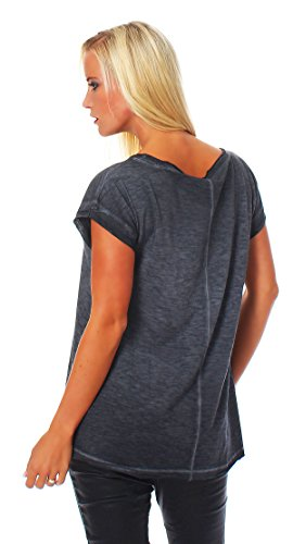 Wte3028 Señoras Para Camisa Scorpion Mujer Camiseta Corta Manga Negro Bay 1gqvvw8
