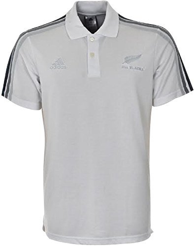 Adidas All Blacks Jersey (Adidas Mens All Blacks Polo New Zealand Rugby Shirt Pique White S-XXL F83838 (M))