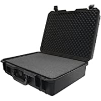 IBEX Cases - Black Watertight Hard Rugged Protective Case for Electronics, Equipment, Cameras, Tools, Drones, and More (IC-2100BK)