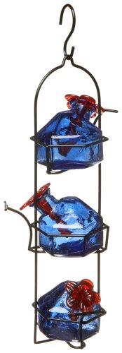 Blue Hummingbird Feeder (Lunchpail 3 Hummingbird Feeder Blue)