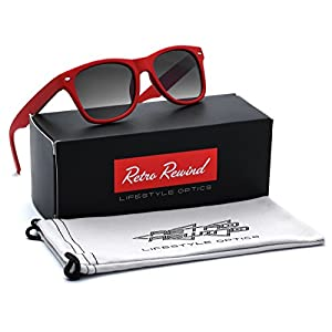 KIDS AGE 3-12 Wayfarer Style Sunglasses with Frame - Red