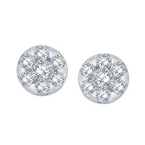 Giantti Diamant pour femme Boucles d'oreilles à tige (0,254CT, VS Clarté, Gh-colour)