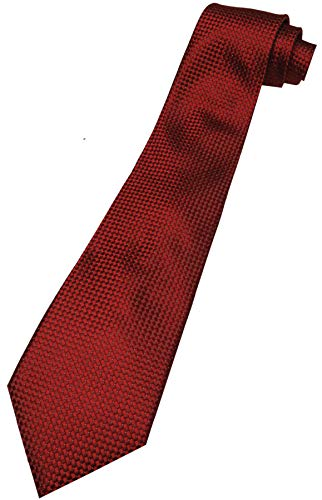 Donald Trump Neck Tie Signature Collection Red Diamond Pattern with Gold Crest - Signature Trump Collection